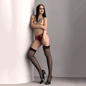 Privatmodelle Berlin Glorija zierliches Escort Girl in Strapsen Sex in allen Stellungen